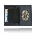 Book Style Badge Case, Oversized ID Window, Soft