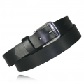 "1.25"" Black Full Grain Leather"