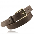 "1.25"" Brown Milled English Bridle Leather"