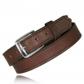 "1.25"" Dark Pecan Full Grain Bison Leather Snap Off Buckle"
