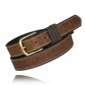 "1.25"" Dark Pecan Full Grain Bison Leather"