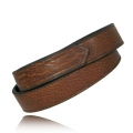 "1.25"" Tucson Full Grain Bison Leather Hook and Loop Tipped"