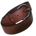"1.5"" Oil Tanned Latigo Basketweave Snap Off"