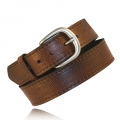 "1.5"" Full Grain Dark Pecan Bison Leather"