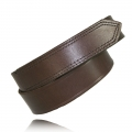 "1.5"" Brown Full Grain Bridle Leather Hook and Loop Tipped"