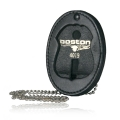 Oval Recessed Badge Holder with Clip and Chain