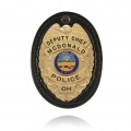 Oval Recessed Badge Holder with Clip