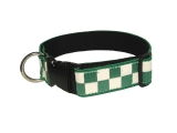 "1 1/2"" Decorative Embroidered Collar, Green/White"