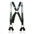 "Firefighter's Suspenders, 8-Point Loop, 1/2"" Reflective Ribbon, 3"" Longer"