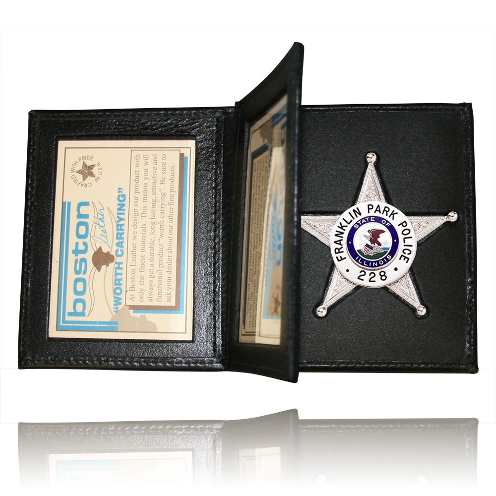 Book Style Badge Case, Double ID