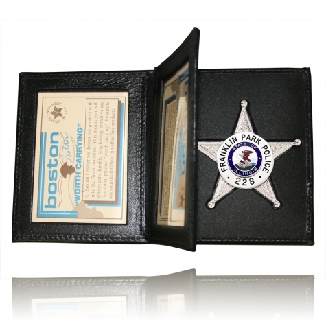 Book Style Badge Case, Double ID, Soft