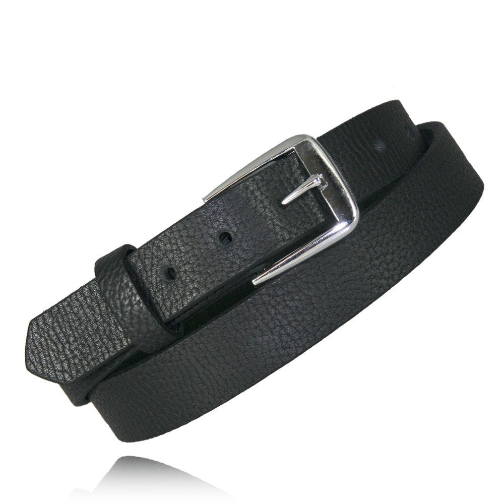 "1.25"" Black Milled English Bridle Leather"