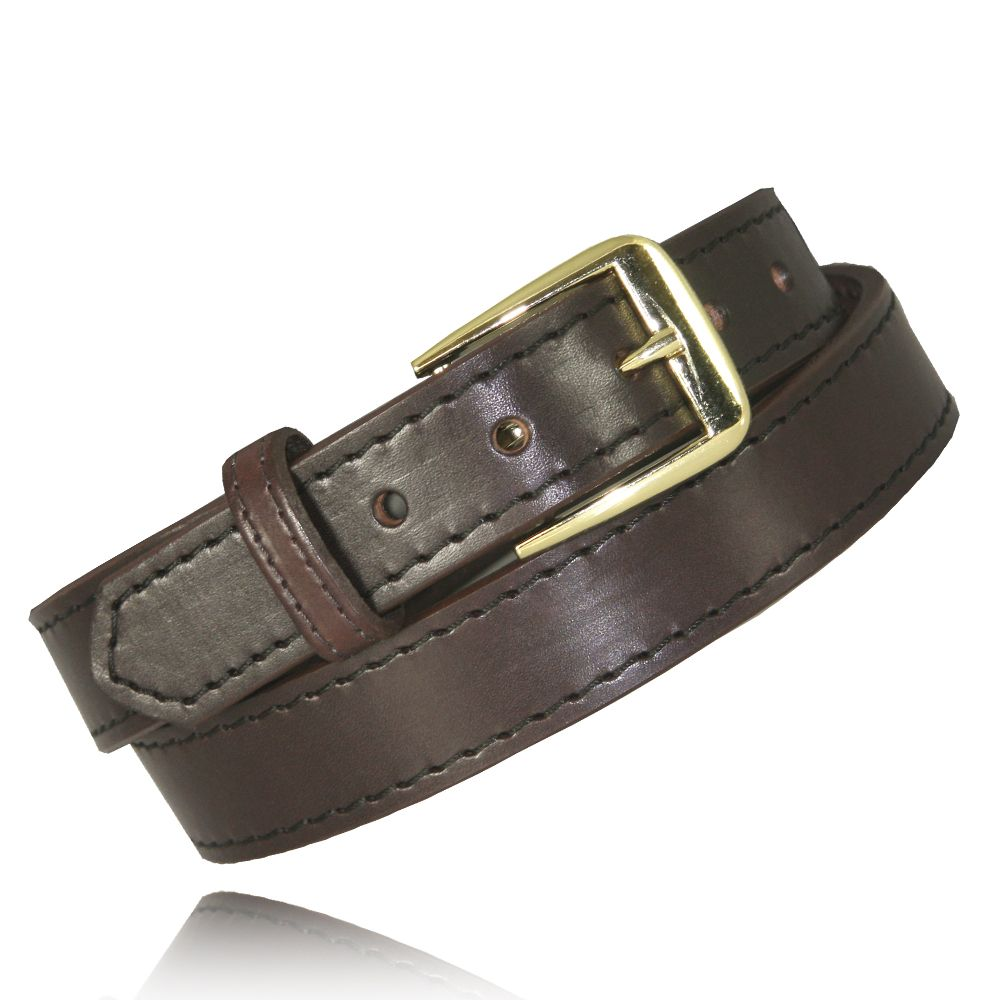 "1.25"" Brown Full Grain Bridle Leather"