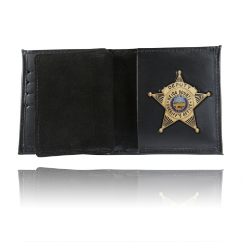 Book Style Badge Wallet, Card Slots, Soft