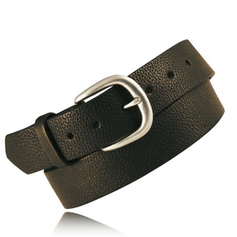 "1.5"" Black Milled English Bridle Leather"
