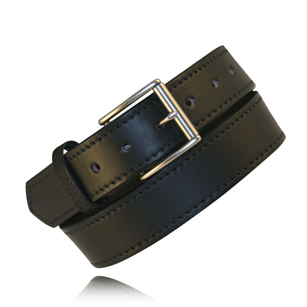 "1.5"" Black Full Grain Bridle Leather"