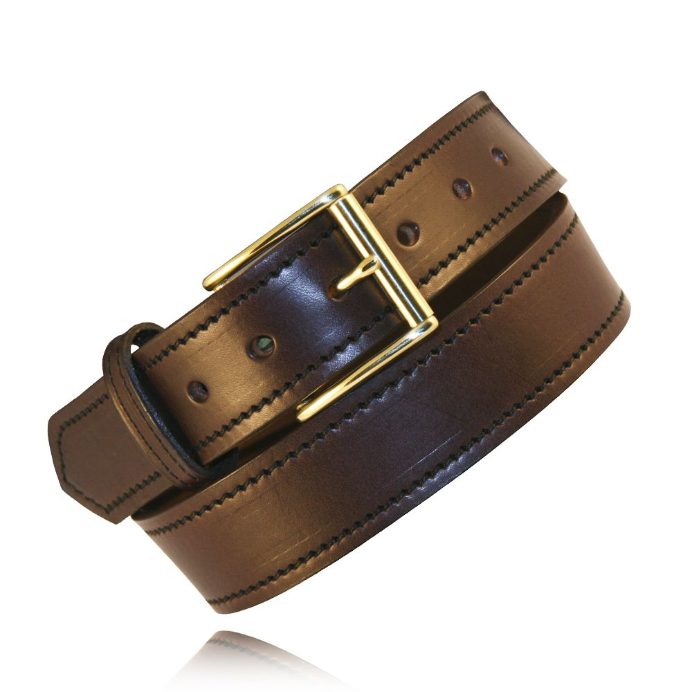 "1.5"" Brown Full Grain Bridle Leather"