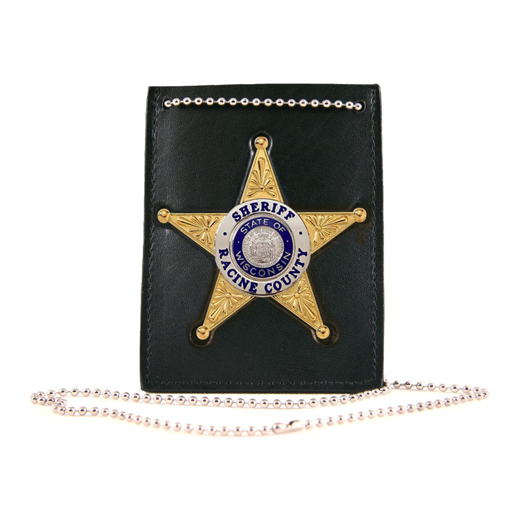 Neck Chain ID Holder with Recessed Badge