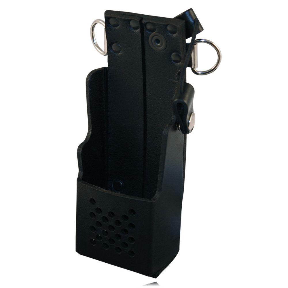 Boston Leather 5483RC-1 Black Radio Holder For Motorola 1250 Elastic Straps