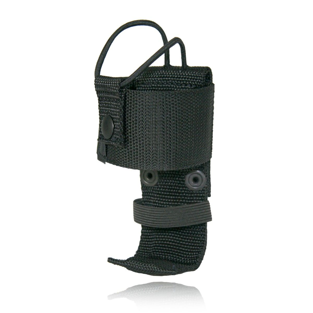 "Deluxe Adjustable Radio Holder 5"" with Elastic Strap, Ballistic Weave"