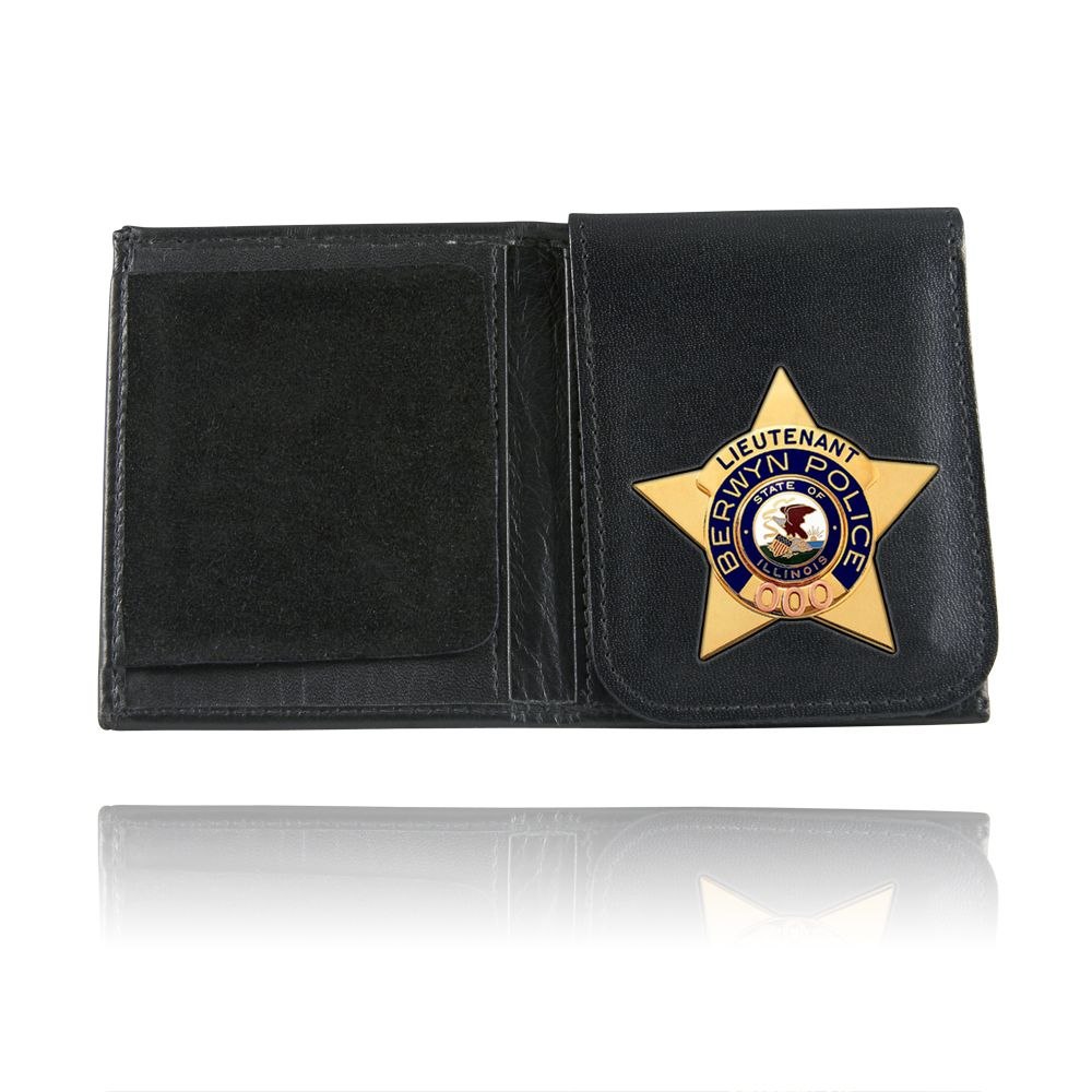 Book Style Badge Case, Flip Out Badge Flap