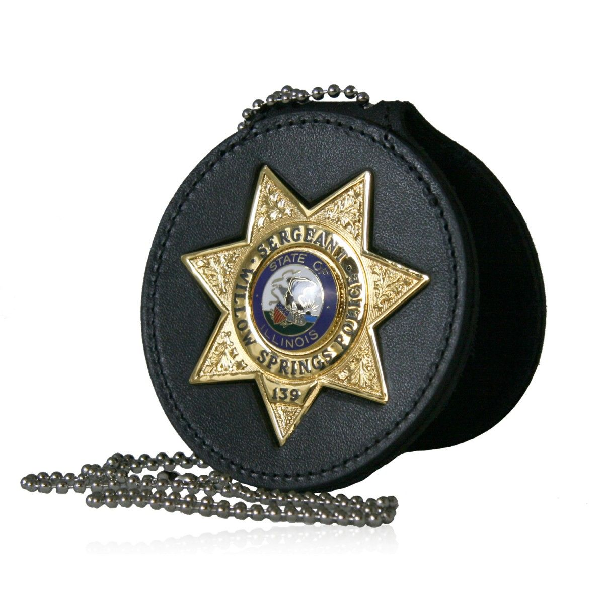 "Deluxe 3.75"" Circle Recessed Badge Holder with Clip"