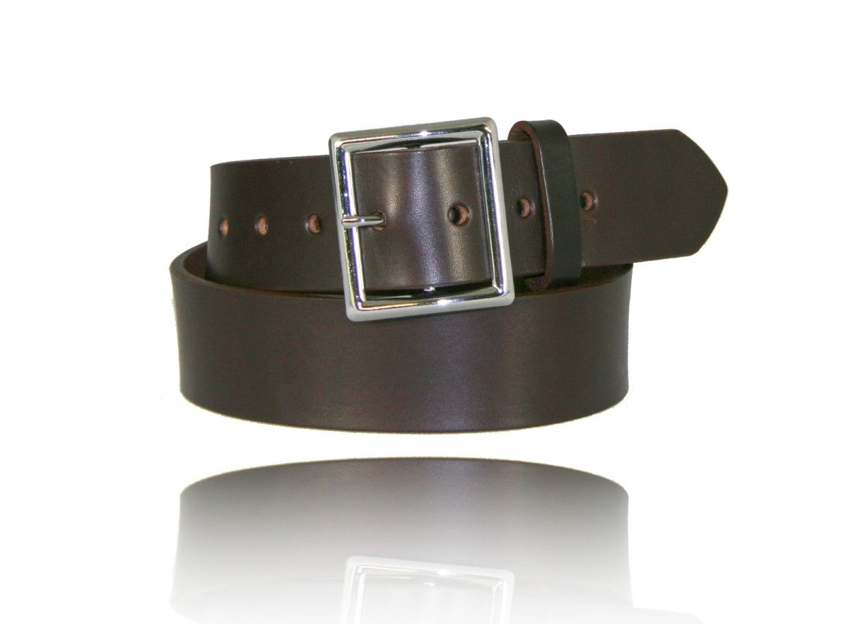 "1 3/4"" Garrison Belt - Brown No Lines"