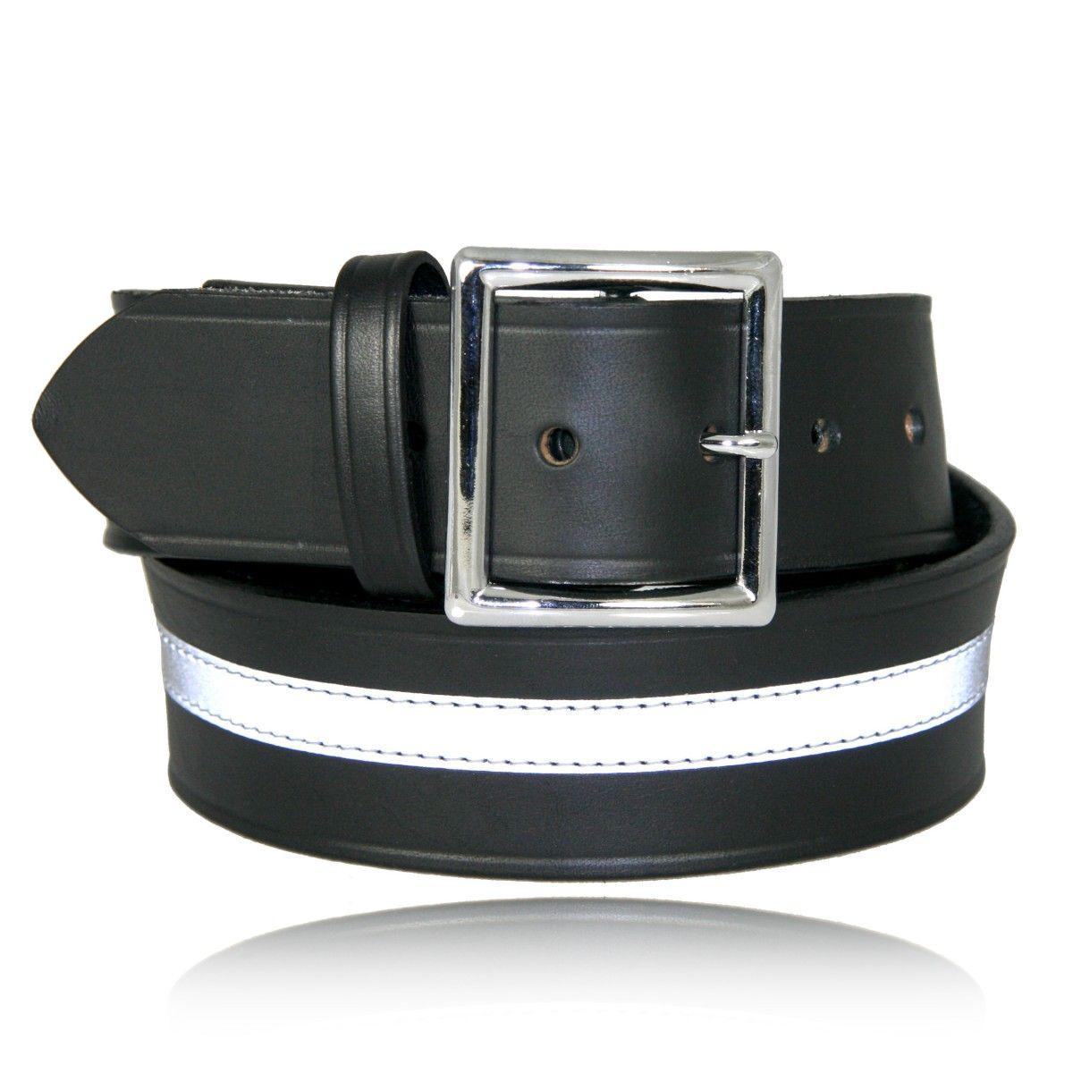 "Boston Leather 1-3//4/"" Garrison Leather Belt"