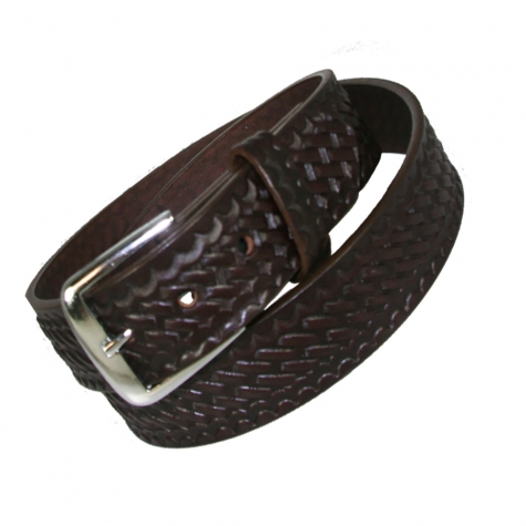 "TRADITIONAL 1 1/2"" OFF DUTY BELT - BROWN"