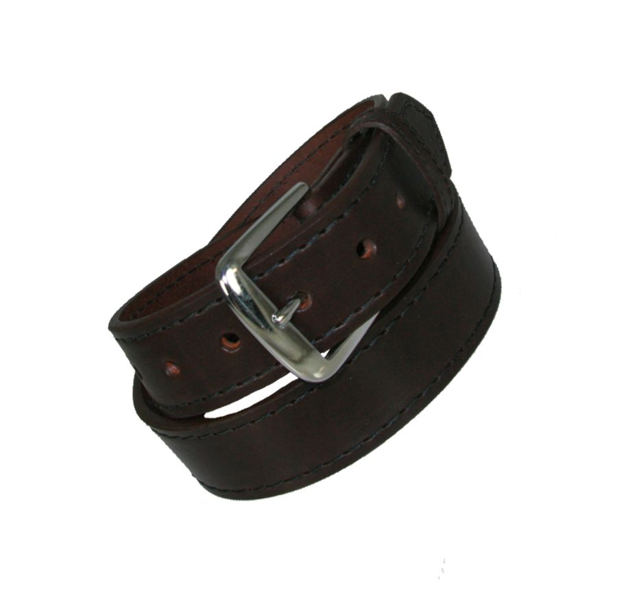 "1 1/2"" LINED OFF DUTY BELT - BROWN"