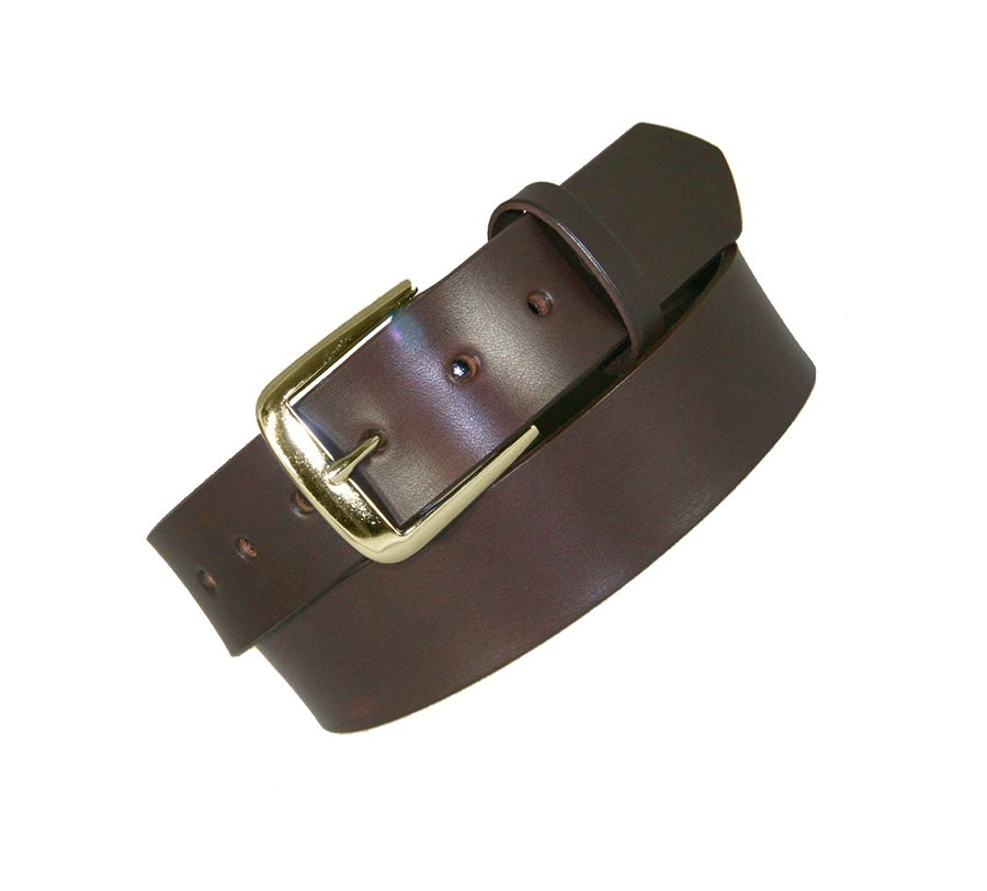 "1 1/2"" NO LINES OFF DUTY BELT - BRN"