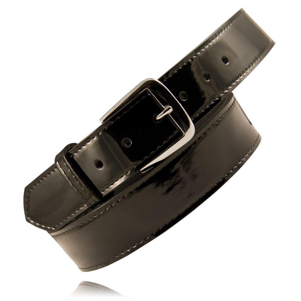 Boston Leather 6582-3-50 Mens Cordovan Basketweave Nickel Off Duty Belt