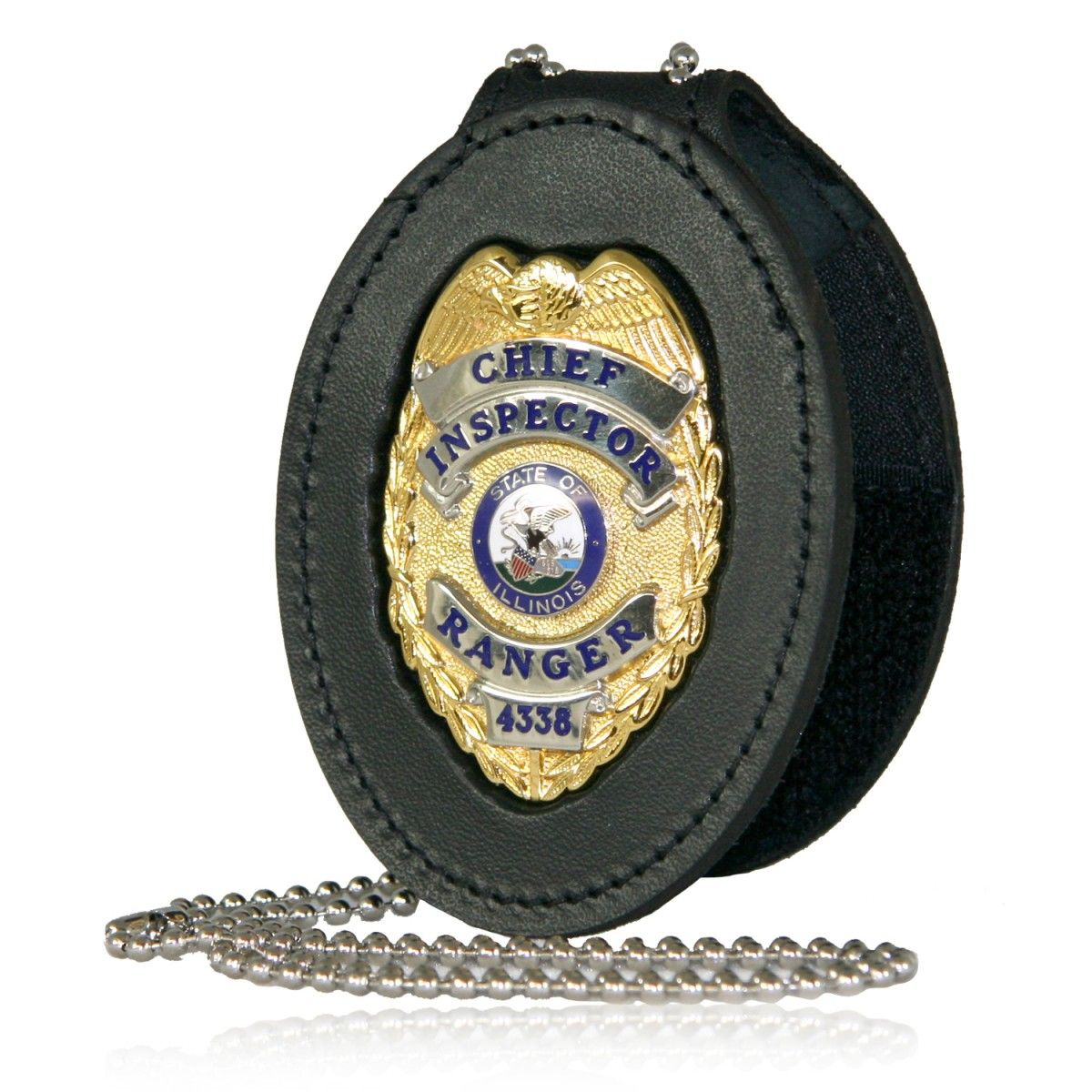 Deluxe Oval Recessed Badge Holder with Clip