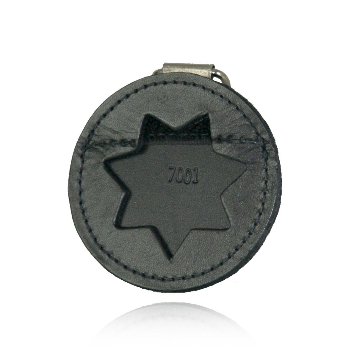 Round K-9 Badge Holder with D-Ring