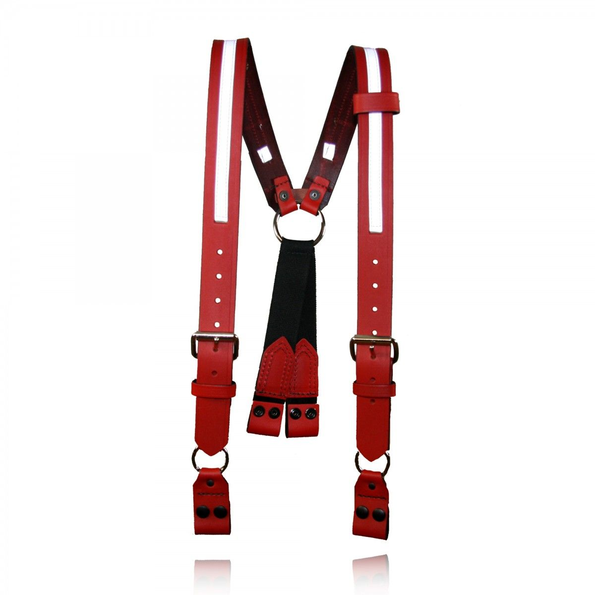 "Firefighter's Suspenders, Loop Attachment, 1/2"" Reflective Ribbon, 3"" Longer"